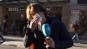 Agredido al reportero de Intereconomía Cake Minuesa en las protestas de Barcelona