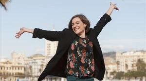 Carla Simón, en marzo del 2017 en el festival de cine Málaga, donde triunfó en el palmarés.