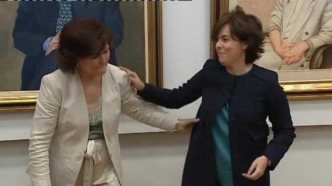 """Calvo elogia a Santamaría y se impone """"achicar las desigualdades"""""""