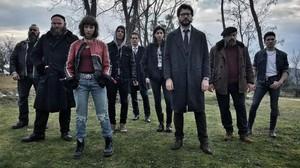 Actores principales de la serie de Antena 3 'La casa de papel'.