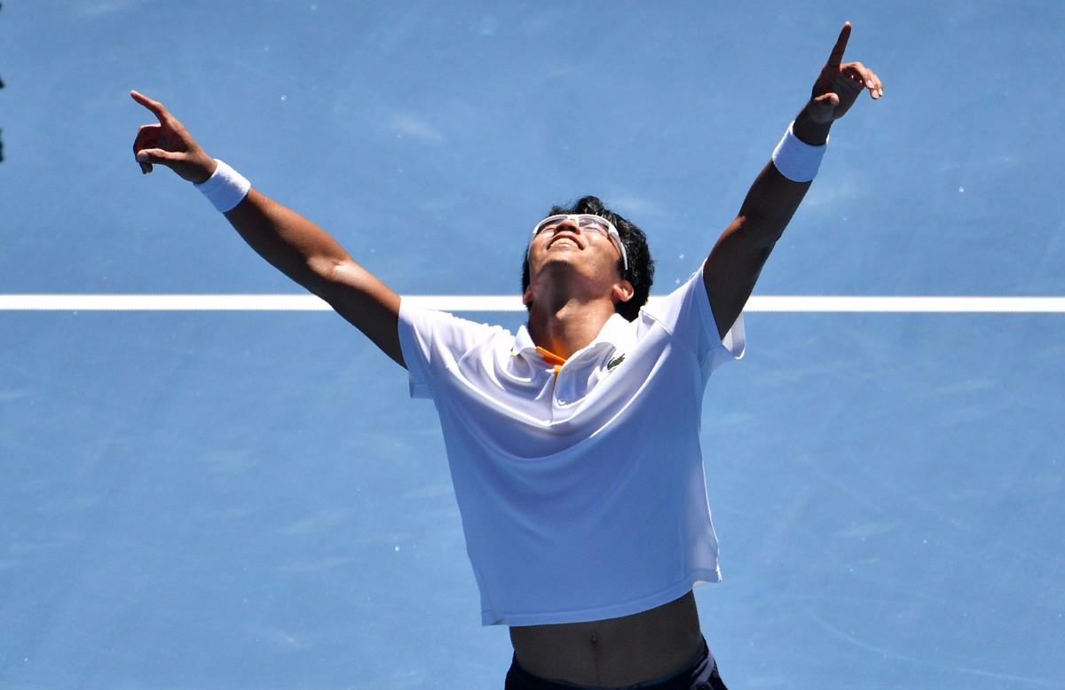 Chung explota de alegría en Melbourne.