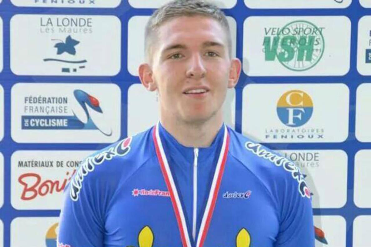 El ciclista francés Mathieu Riebel.
