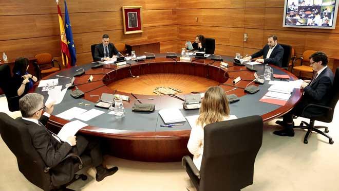 Consejo de Ministros extraordinario del 29 de marzo del 2020.