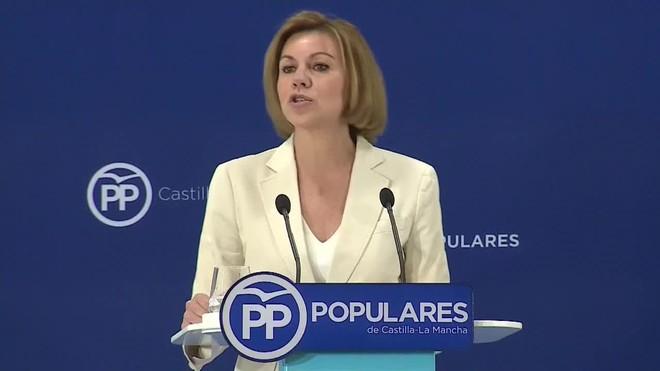 Cospedal ha anunciado su candidatura ante unos 150 de dirigentes populares castellanomanchegos.