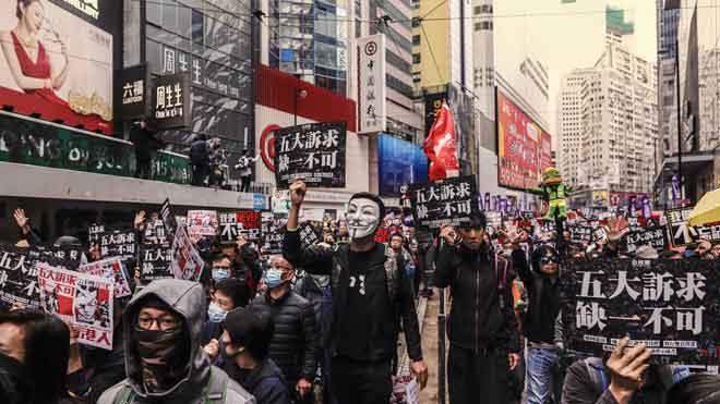 La policia deté 400 persones en les protestes de Cap d'Any a Hong Kong