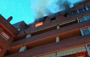 Mor una àvia en un incendi a Terrassa