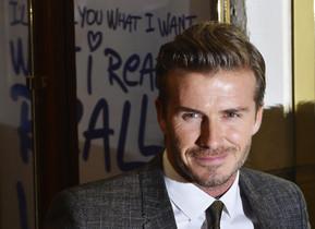 David Beckham, a larribar a una gala a Londres.