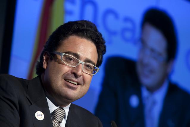 David Madí, durante la presentación de unacampaña electoral de CiU, en el 2010.