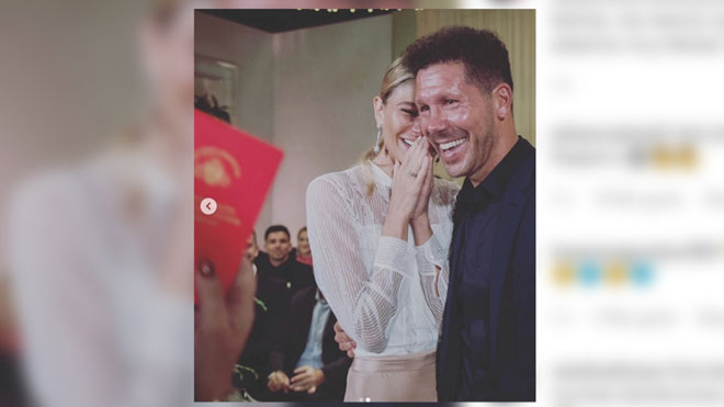 Diego Pablo Simeone y Carla Pereyra se casan por lo civil en Argentina.