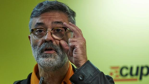 El diputado de la CUP, Carles Riera, lamentó la posibilidad de convocatoria de elecciones en Catalunya.