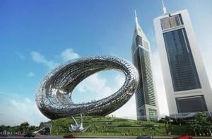 Recreación del exterior del Museo del Futuro.