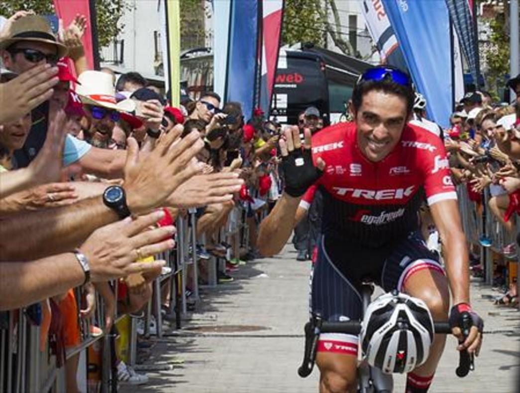 Contador, durante la Vuelta del 2017, en la que cerró su carrera profesional.