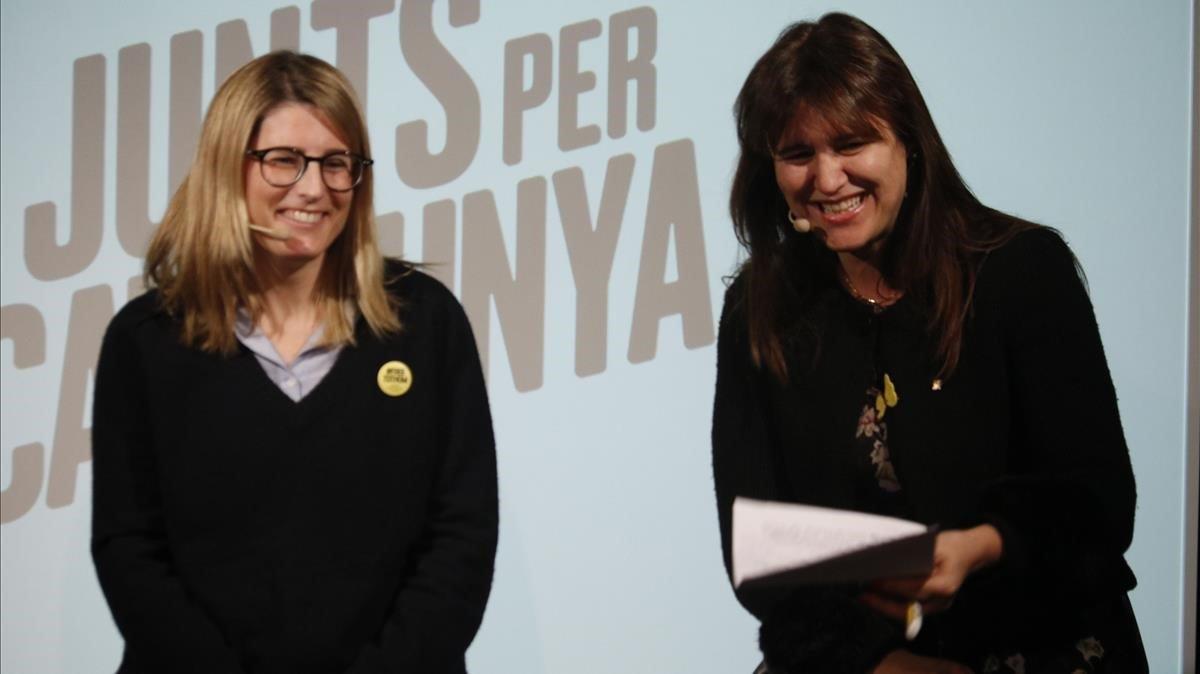 Las 'conselleres' Elsa Artadi y Laura Borràs