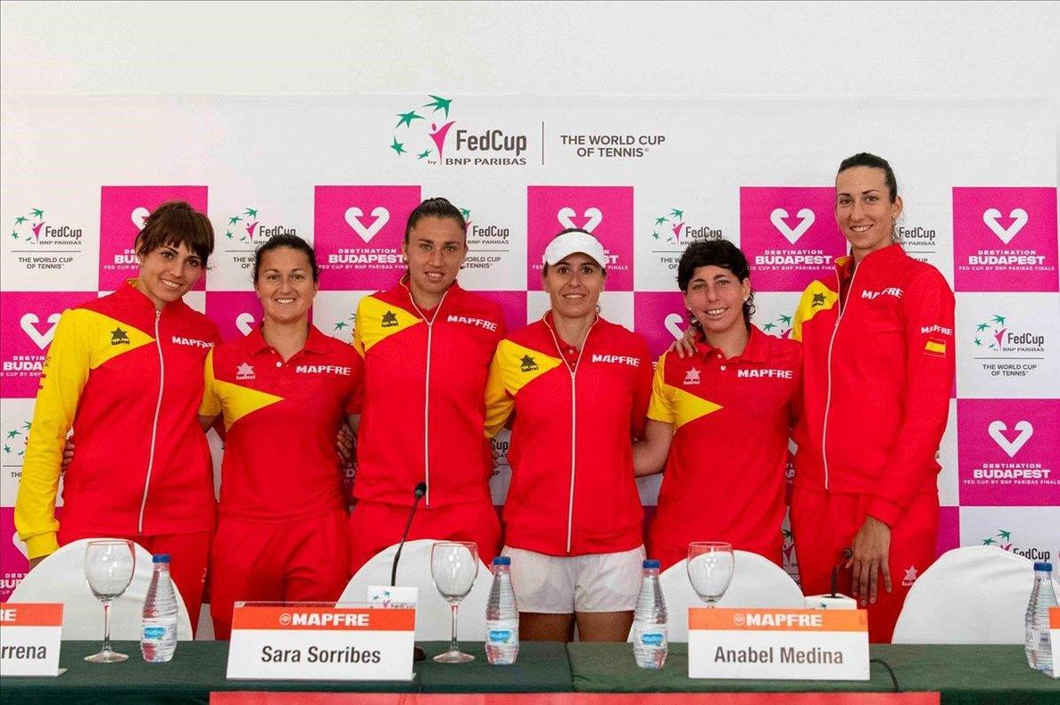 El equipo español de Copa Federación, en su última eliminatoria