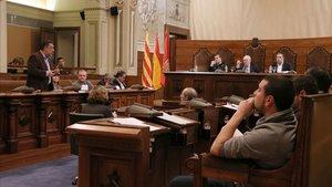 Un pleno de la Diputació de Tarragona, en enero del 2018