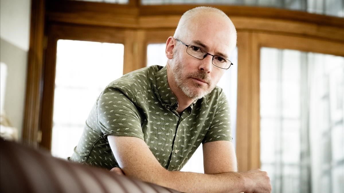 El escritor británico Jon McGregor, en su reciente visita a Barcelona.