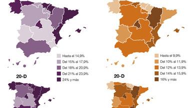 Así ha cambiado España (de voto) en seis meses