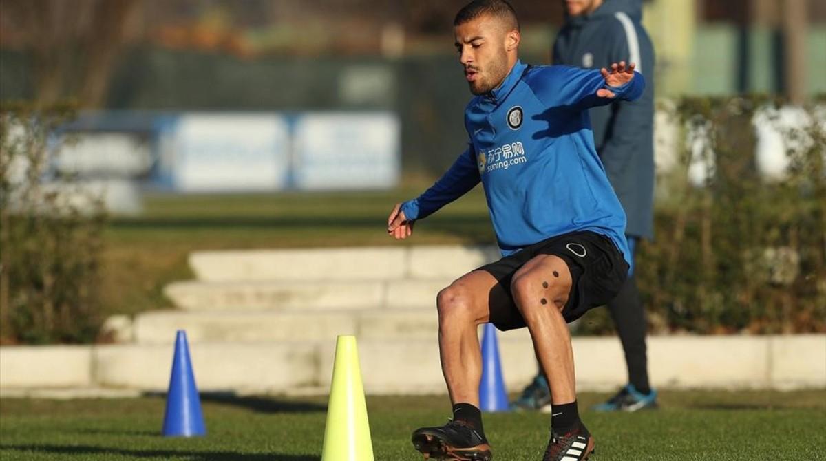 El exazulgrana Rafinha Alcantara, ya se entrena con el Inter de Milan.