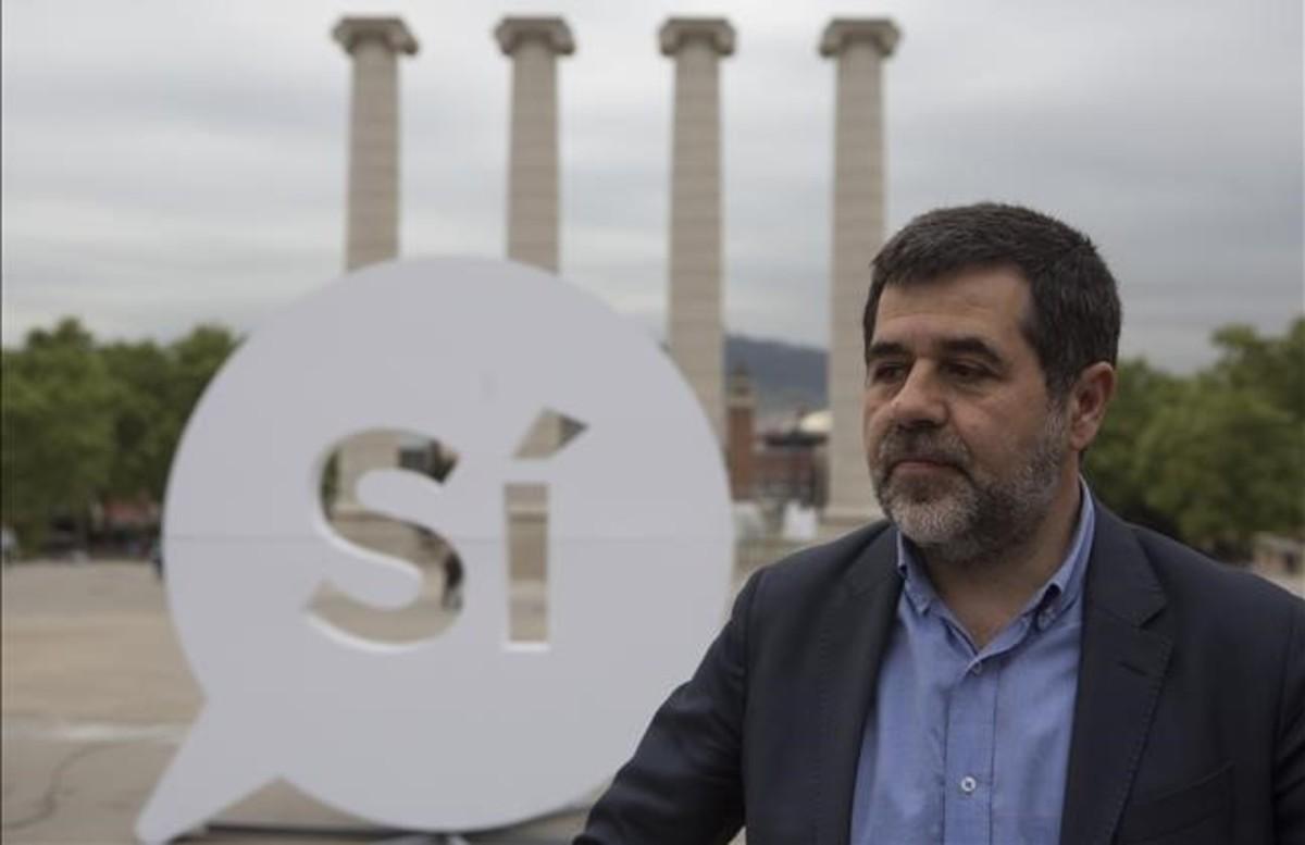 El expresidente de laAssemblea Nacional Catalana (ANC)Jordi Sànchez, el pasado abril.