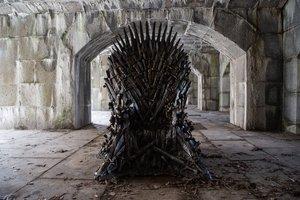 El famoso y deseado trono de la serie 'Juego de tronos'.