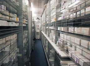 Farmacia robotizada del Hospital de Vall dHebron, de Barcelona.