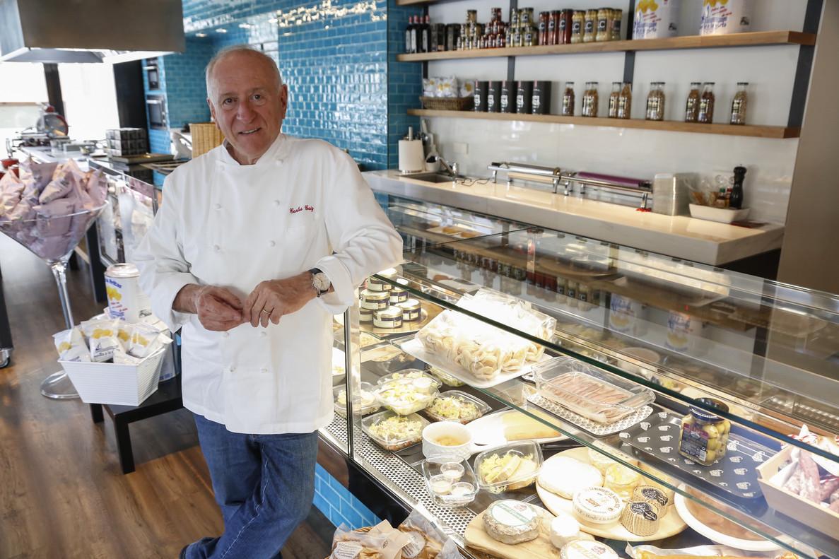 Carles Gaig en Gaig a Casa, el local de comida para llevar y restaurante que acaba de inaugurar.
