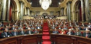 El hemiciclo del Parlament.
