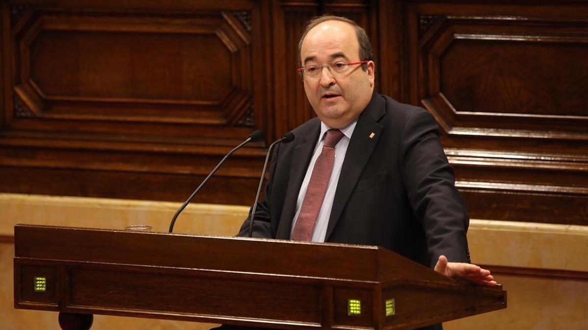 Miquel Iceta, una de las voces coherentes ante el conflicto en Catalunya