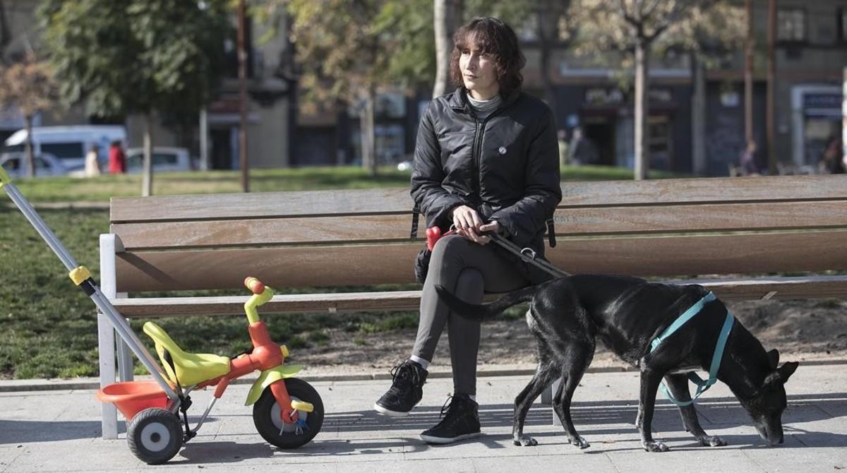 Audrey García, en un parque de Barcelona.