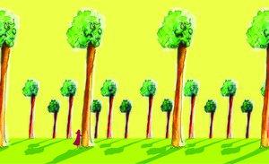 Cada ocho metros, un árbol