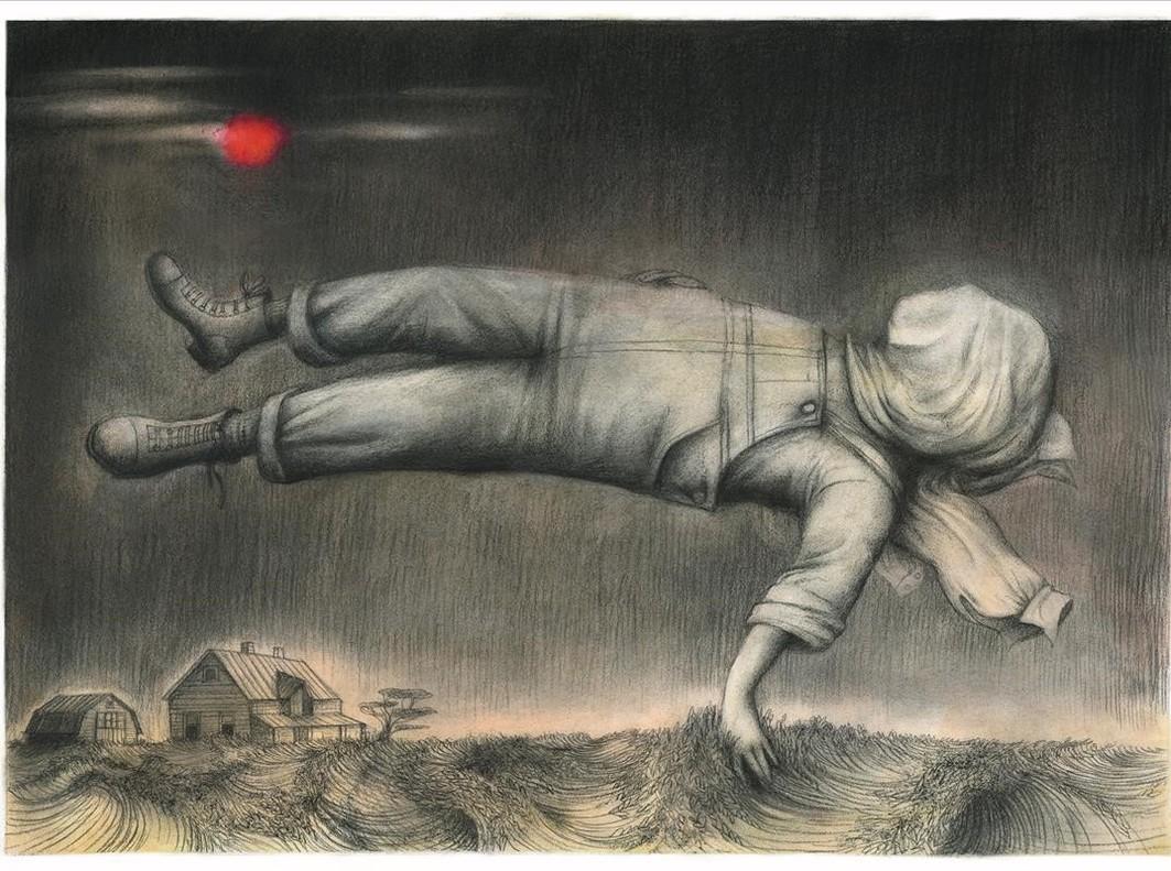 Ilustración de Ana Juan para El hombre del traje negro, un relato de Stephen King.