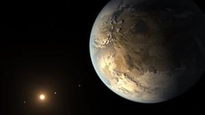 Imagen que recrea el aspecto del planeta Kepler-186f, recientemente descubierto en la constelación del Cisne.