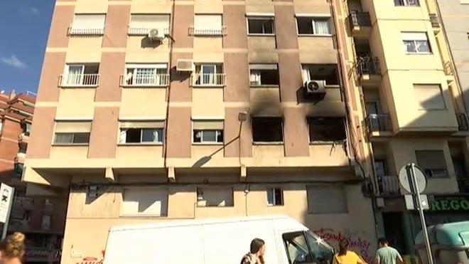Un mort en l'incendi d'un pis a l'Hospitalet