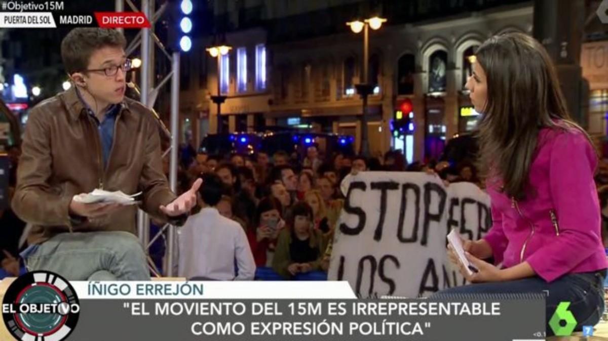 Íñigo Errejón y Ana Pastor, en el especial de El objetivo desde la Puerta del Sol.