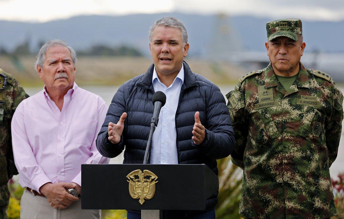 El presidente de Colombia, Iván Duque, da unas declaraciones a la prensaen BogotáColombia.EFELeonardo Munoz