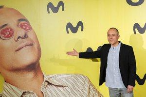 El actor Javier Gutiérrez en la presentación de la segunda temporada de la serie de Movistar+ Vergüenza.