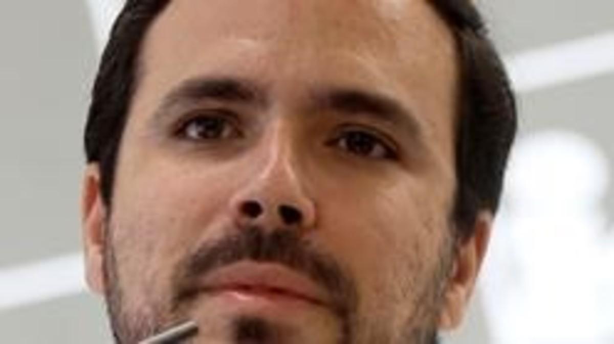 El líder de IU, Alberto Garzón.