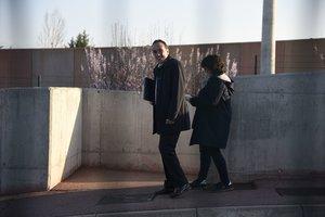 Josep Rull sale de la cárcel de Lledoners.