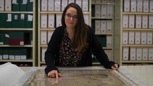 Laura Fortuny, archivera en el Arxiu Històric de la Ciutat de Barcelona.