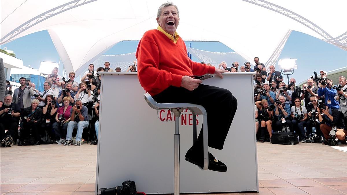 Lewis, en Cannes, dondepresentóla película Max Rose.