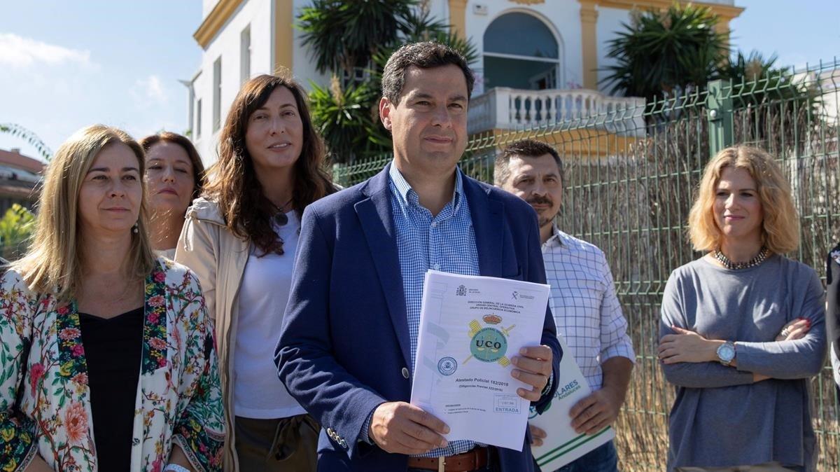 El líder del PP andaluz, Juan Manuel Moreno Bonilla.