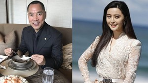 El millonario disidente Guo Wengui y la actriz acusada Fan Bing Bing.