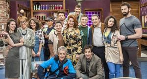Los actores de la serie de TVE-1 'La pelu'.