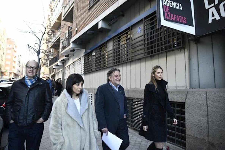 Los concejales del PSOE Ramón Silva, Pepu Hernández (portavoz del grupo), Mar Espinar y Mercedes González.