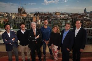 Los integrantes de la mesa +Debate, de izquierda a derecha: José María Gómez, Oriol Serra, Jordi Cornet, Eric Van Der Werff, Blanca Sorigué, Luis Escobedo y Nicolas Mouze.