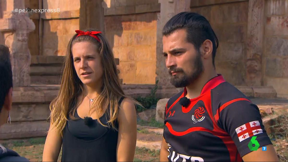 Marta y Giorgi se tomaron en serio la etapa con doble eliminación y consiguieron su tercer amuleto al ser los más rápidos en llegar a la meta.