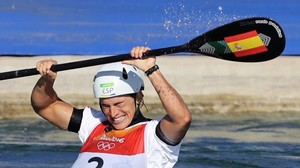 Maialen Chourraut, cuando se proclamó campeona olímpica en los Juegos de Río-2016.