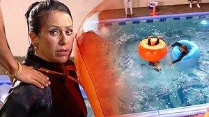 Maite Galdeano, a punto de ahogarse en una prueba de 'La casa fuerte'