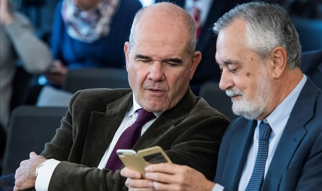 Manuel Chaves y José Antonio Griñán, en diciembre del 2018.