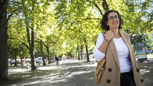 Marta Rovira pasea por Ginebra.